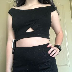 Black Sparkly Two Piece Formal